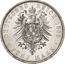 Moneda > 5marcos, 1888 - Alemán (Imperio)  (Guillermo II) - reverse