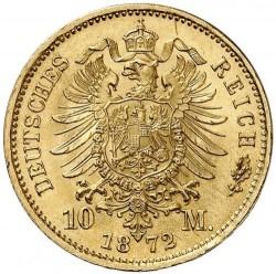 Moneda > 10marcos, 1872-1873 - Alemán (Imperio)  - reverse
