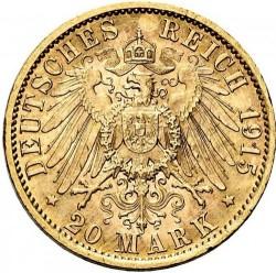 Moneda > 20marcos, 1913-1915 - Alemán (Imperio)  - reverse