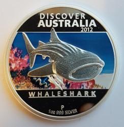 Moneta > 1dolar, 2012 - Australia  (Odkryj Australię - Rekin wielorybi) - reverse
