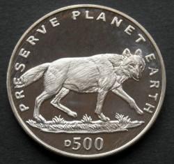 מטבע > 500דינר, 1994 - בוסניה והרצגובינה  (Preserve Planet Earth - Gray Wolf) - reverse