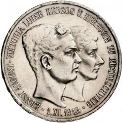 """Moneda > 3marcos, 1915 - Alemán (Imperio)  (Ernesto Augusto Boda y Ascensión /sin """"U. LÜNEB"""" en el anverso/) - obverse"""