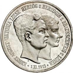"""Moneda > 3marcos, 1915 - Alemán (Imperio)  (Ernesto Augusto Boda y Ascensión /""""U. LÜNEB"""" en el anverso/) - obverse"""