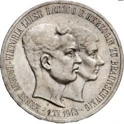 """Moneda > 5marcos, 1915 - Alemán (Imperio)  (Ernesto Augusto Boda y Ascensión /sin """"U. LÜNEB"""" en el anverso/) - obverse"""