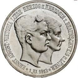 """Moneda > 5marcos, 1915 - Alemán (Imperio)  (Ernesto Augusto Boda y Ascensión /""""U. LÜNEB"""" en el anverso/) - obverse"""