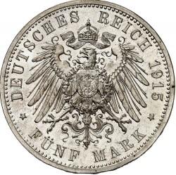 """Moneda > 5marcos, 1915 - Alemán (Imperio)  (Ernesto Augusto Boda y Ascensión /""""U. LÜNEB"""" en el anverso/) - reverse"""