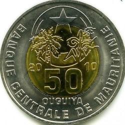 Монета > 50угии, 2010-2014 - Мавритания  - obverse