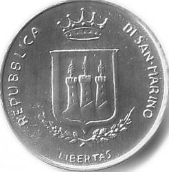 Moneda > 1lira, 1983 - San Marino  (Amenaça Nuclear) - obverse