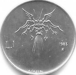 Moneda > 1lira, 1983 - San Marino  (Amenaça Nuclear) - reverse