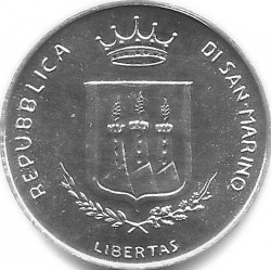 Монета > 5лір, 1983 - Сан-Марино  (Ядерна загроза) - obverse