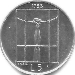 Монета > 5лір, 1983 - Сан-Марино  (Ядерна загроза) - reverse