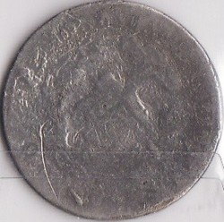 "Coin > 20 centavos, 1893 - Chile  (W/o dash below ""S"" in ""CENTs"") - reverse"