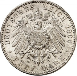 Moneta > 5marek, 1906 - Cesarstwo Niemieckie  - reverse