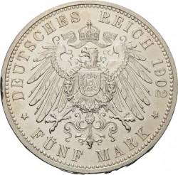 Moneda > 5marcos, 1902 - Alemán (Imperio)  (Barba larga) - reverse