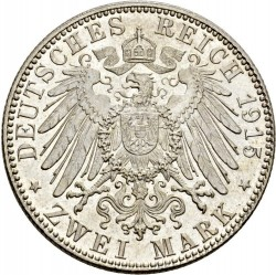 Moneda > 2marcos, 1915 - Alemán (Imperio)  (Muerte de Jorge II) - reverse