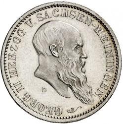 Moneda > 2marcos, 1901 - Alemán (Imperio)  (75º Aniversario - Muerte de Jorge II) - obverse