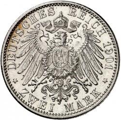 Moneda > 2marcos, 1901 - Alemán (Imperio)  (75º Aniversario - Muerte de Jorge II) - reverse