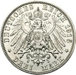 Moneda > 3marcos, 1915 - Alemán (Imperio)  (Muerte de Jorge II) - reverse