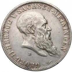 Moneda > 5marcos, 1901 - Alemán (Imperio)  (75º Aniversario - Muerte de Jorge II) - obverse