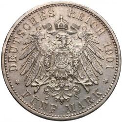Moneda > 5marcos, 1901 - Alemán (Imperio)  (75º Aniversario - Muerte de Jorge II) - reverse