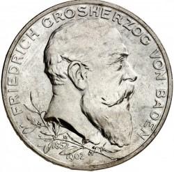 Moneda > 5marcos, 1902 - Alemán (Imperio)  (50º Aniversario - Reinado de Federico I) - obverse