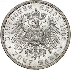 Moneda > 5marcos, 1902 - Alemán (Imperio)  (50º Aniversario - Reinado de Federico I) - reverse