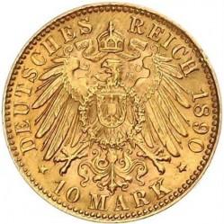 Münze > 10Mark, 1890-1891 - Deutsches Kaiserreich  - reverse