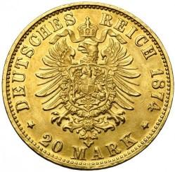 Coin > 20mark, 1874-1876 - German Empire  - reverse