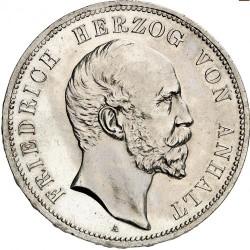 Moneda > 5marcos, 1896 - Alemán (Imperio)  (25º Aniversario - Reinado de Federico I) - obverse