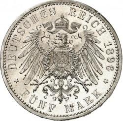 Moneda > 5marcos, 1896 - Alemán (Imperio)  (25º Aniversario - Reinado de Federico I) - reverse