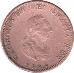 Moneta > 1farthing, 1799 - Wielka Brytania  - obverse
