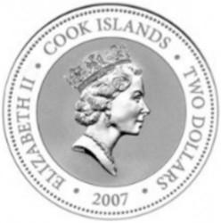 Монета > 2долара, 2007 - Острови Кука  (Пригоди Шерлока Холмса - Шерлок Холмс) - obverse