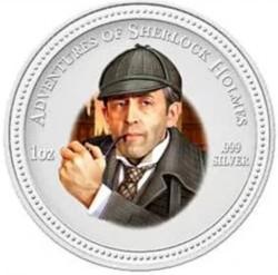 Монета > 2долара, 2007 - Острови Кука  (Пригоди Шерлока Холмса - Шерлок Холмс) - reverse