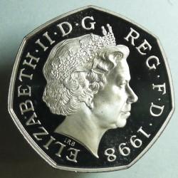 Moneta > 50pensų, 1998-2008 - Jungtinė Karalystė  - obverse