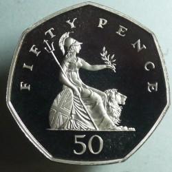 Moneta > 50pensų, 1998-2008 - Jungtinė Karalystė  - reverse
