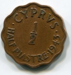 Coin > ½ piastres, 1942-1945 - Cyprus  - obverse