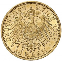 Moneta > 10marchi, 1896-1901 - Impero Tedesco  - reverse
