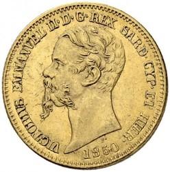 Монета > 20лір, 1850-1861 - Сардинія  - obverse