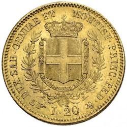 Монета > 20лір, 1850-1861 - Сардинія  - reverse