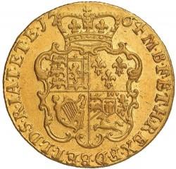 Minca > 1guinea, 1763-1764 - Veľká Británia  - reverse
