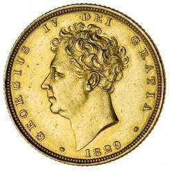 Монета > 1соверен, 1825-1830 - Велика Британія  - obverse
