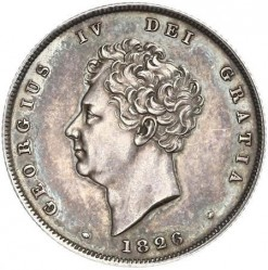 Coin > 1 shilling, 1825-1829 - United Kingdom  - obverse