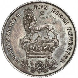Coin > 1 shilling, 1825-1829 - United Kingdom  - reverse