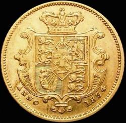 Münze > ½Sovereign, 1834 - Vereinigtes Königreich   - reverse