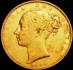 Moneta > 1funt(suweren), 1844 - Wielka Brytania  - obverse