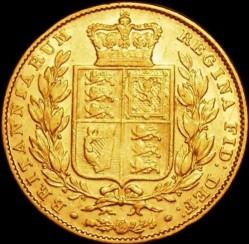 Moneta > 1funt(suweren), 1844 - Wielka Brytania  - reverse