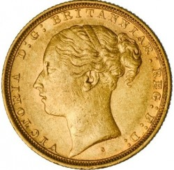 Coin > 1 pound (sovereign), 1871-1885 - United Kingdom  - obverse
