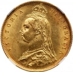 Coin > ½pound(halfsovereign), 1887-1893 - United Kingdom  - obverse