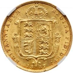 Coin > ½pound(halfsovereign), 1887-1893 - United Kingdom  - reverse
