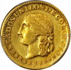Coin > 5pesos, 1863 - Colombia  - obverse